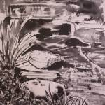 """river ink wash"" by Dennisartist"