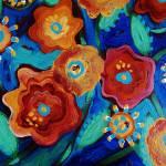 """""""Folk Flowers I"""" by pattifriday"""