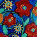 """Folk Flowers II"" by pattifriday"