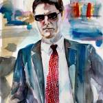 """Aaron Hotchner Criminal Minds Portrait"" by GinetteCallaway"