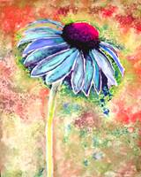 Cone Flower Painting 8-6-15C