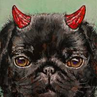 Black Pug Art Prints & Posters by Michael Creese