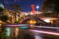 San Antonio Riverwalk Night Cityscape