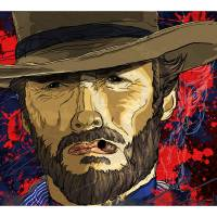 The Coolness of Mr. Eastwood by Todd Bane Art Prints & Posters by Todd Bane