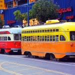 """San Francisco Trolley Cars"" by Ffooter"