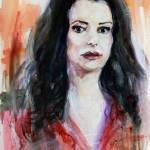 """Criminal Minds Emily Prentiss Watercolor"" by GinetteCallaway"