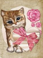 Kitty Valentine Victorian Mixed Media