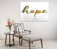 Hope. Inspirational Wall Art room view