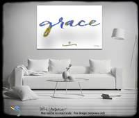 Grace. Inspirational Wall Art. Big Paintings- Inte