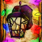 """Lantern Holiday Digital Painting"" by ReneeLozenGraphics"