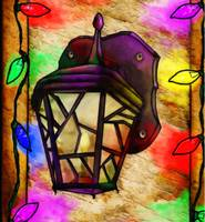 Lantern Holiday Digital Painting