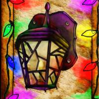 Lantern Holiday Digital Painting Art Prints & Posters by Renee Lozen