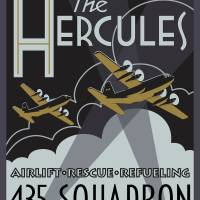 Herk Deco - 435 Squadron Edition Art Prints & Posters by Michael Brooks