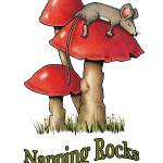 """Cute Mouse Sleeping on Toadstool: Napping Rocks"" by joyart"