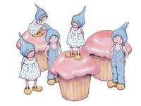 Pink Cupcakes and Gnomes in Blue, Children
