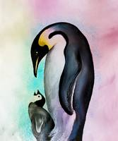 Penguins Love Aquarell
