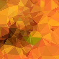Deep Carrot Orange Abstract Low Polygon Background