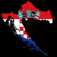 Croatian Flag Silhouette