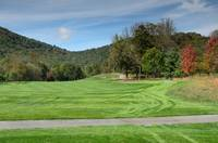 Golf Fairway Fall Foliage View