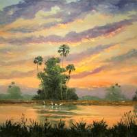 Florida Sunrise Art Prints & Posters by Mazz Original Paintings