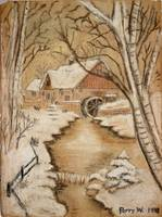The Old Mill by George Perry Wood 1941