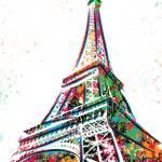"""Eiffel Tower - Paris - Pop Art"" by wcsmack"
