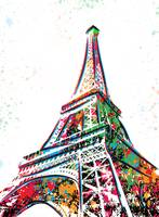 Eiffel Tower - Paris - Pop Art