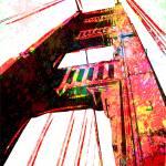"""Golden Gate Bridge - San Francisco - Pop Art"" by wcsmack"