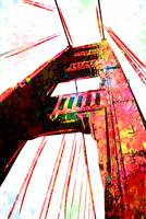 Golden Gate Bridge - San Francisco - Pop Art