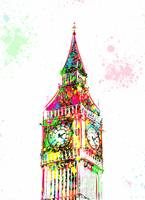 Big Ben - London - Pop Art