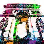 """""""Arc de Triomphe - Paris - Pop Art"""" by wcsmack"""