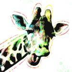 """Giraffe - Smile - Pop Art"" by wcsmack"