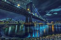 Manhattan Bridge At 2am