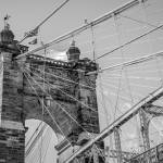 """John A. Roebling Suspension Bridge Cincinnati"" by WilshireImages"