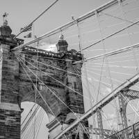 John A. Roebling Suspension Bridge Cincinnati Art Prints & Posters by Phil Cardamone