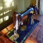"""Vintage Sewing Machine and Shadow"" by susansartgallery"