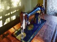 Vintage Sewing Machine and Shadow