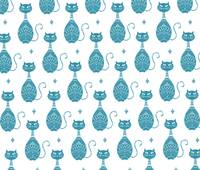 Blue Cats Pattern