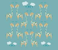 Green Giraffes Illustration