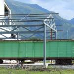 """Green Box Car in a Rail Yard"" by rhamm"