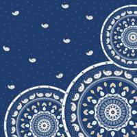Blue and White Mandala