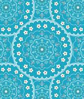 White and Blue Mandala