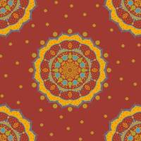 Red Yellow Mandala
