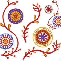 Red Blue Yellow Mandalas