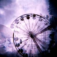 Ferris Wheel Double Exposure
