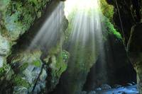 Light Streaming into a Cave