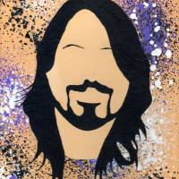 D Grohl Silhouette Art Prints & Posters by Stephen Twite