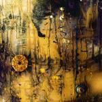 """Abstract Atlantis Sunken Gold"" by GinetteCallaway"