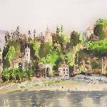 """lake como, bellagio, watercolor, 10x14"" by Dennisartist"