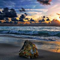 Sunrise Seascape Wisdom Beach Florida C3 Art Prints & Posters by Ricardos Creations